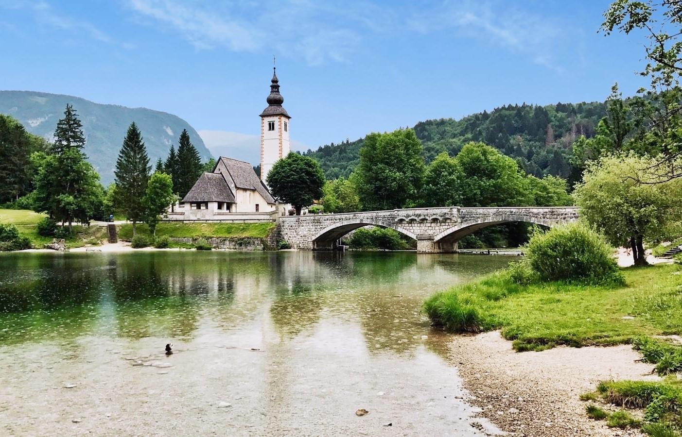 Lago Bohinj viaggio Slovenia